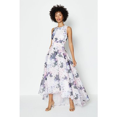 Coast Printed Full Midi Dress, Multi