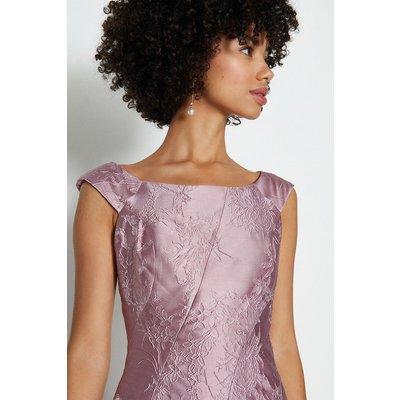 Coast Jacquard Twist Seam Dress, Pink