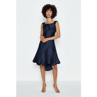 Coast Jacquard Twist Seam Dress, Navy