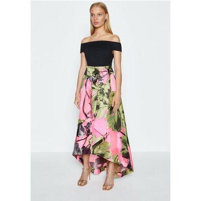 Coast Clip Jacquard Maxi Skirt, Pink