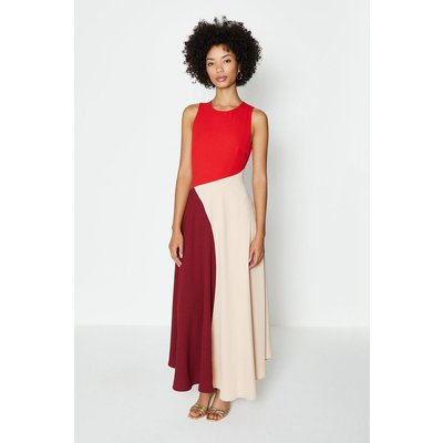 Coast Colour Block Midi Dress -, Pink