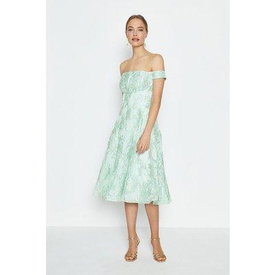 Coast Bardot Full Midi Dress - Mint, Green