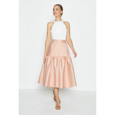 Coast Lantern Midi Skirt, Pink
