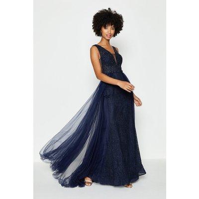 Coast Tulle Overskirt Maxi Dress, Navy