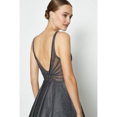 Coast Hotfix Back Maxi Dress -, Black