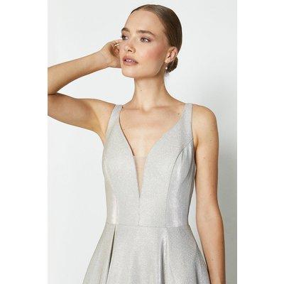 Coast Hotfix Back Maxi Dress, Silver