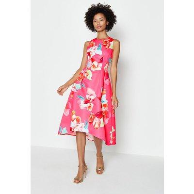 Coast Twill Hi Low Dress, Pink