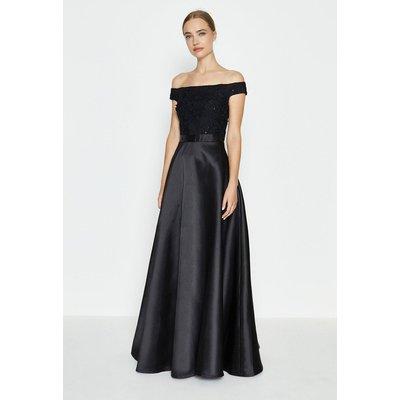 Coast 3D Embroidered Bodice Full Maxi Dress, Black