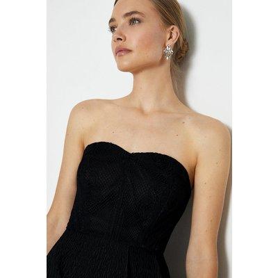 Coast Bandeau Maxi Dress -, Black