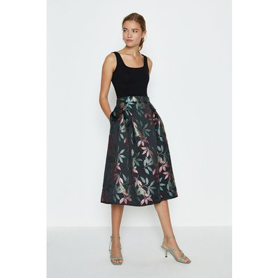 Coast Jacquard Full Midi Skirt, Multi