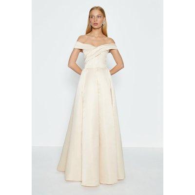Coast Bandeau Full Skirt Maxi Dress -, Beige