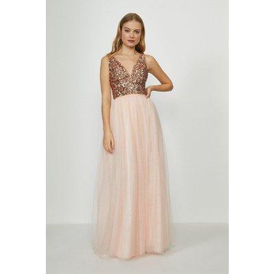 Coast Tulle Maxi Skirt -, Pink