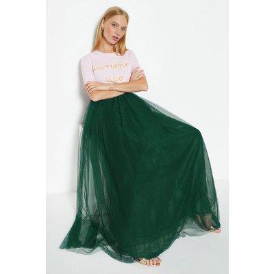 Coast Tulle Maxi Skirt, Green