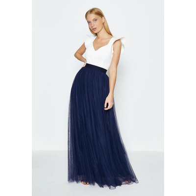 Coast Tulle Maxi Skirt -, Navy
