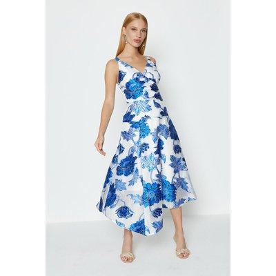 Coast Seam Detail Organza Dress, Blue