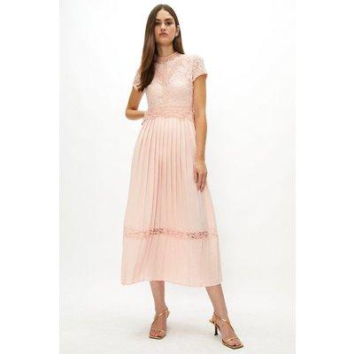 Coast Lace Bodice Pleat Skirt Maxi Bridesmaid Dress -, Pink