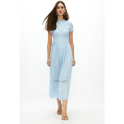 Coast Lace Bodice Pleat Skirt Maxi Bridesmaid Dress -, Ice Blue