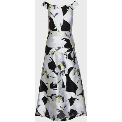 Coast Floral Jacquard Bardot Maxi Dress, Silver