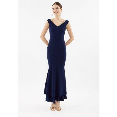 Coast Fishtail Maxi Bridesmaid Dress, Navy