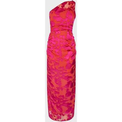Coast One Shoulder Column Maxi Dress, Pink