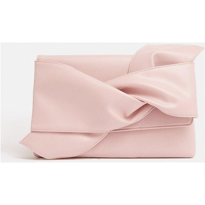 Bow Clutch Bag Pink, Pink