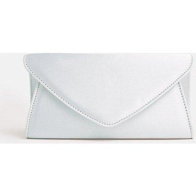Coast Satin Envelope Clutch Bag, Silver