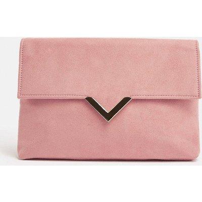 Coast V Hardware Detail Clutch Bag, Pink