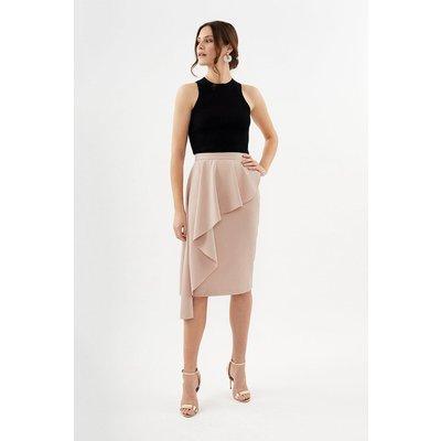 Coast Drape Detail Pencil Skirt, Pink