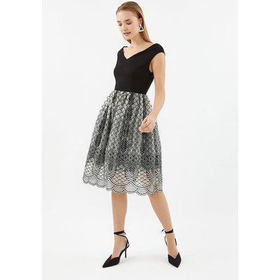 Bardot Full Midi Dress Black, Black