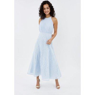3D Textured Full Midi Dress Ice Blue, Ice Blue