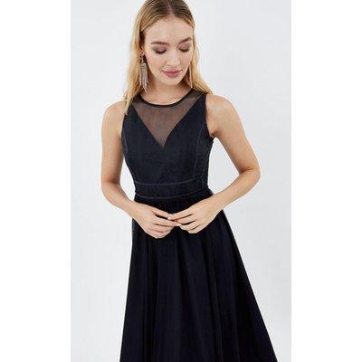 Coast Sleeveless Organza Tulle Midi Bridesmaid Dress, Navy