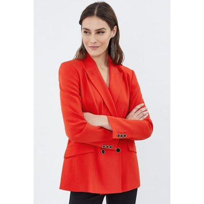Soft Tailoring Double Breasted Jacket Red, Red