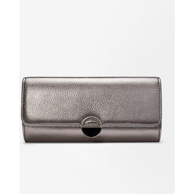 Coast Circle Hardware Clutch Bag Pewter, Grey
