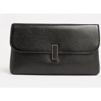 Coast Metallic Clasp Clutch Bag, Black