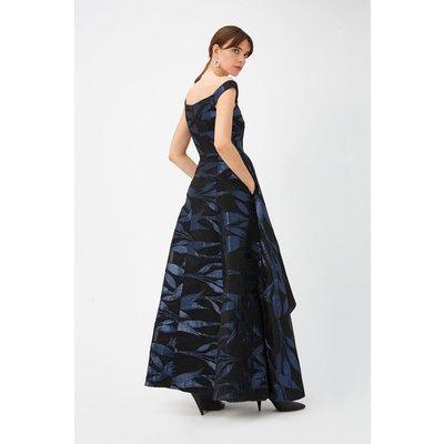 Blue Leaf Maxi Dress Multi, Multi