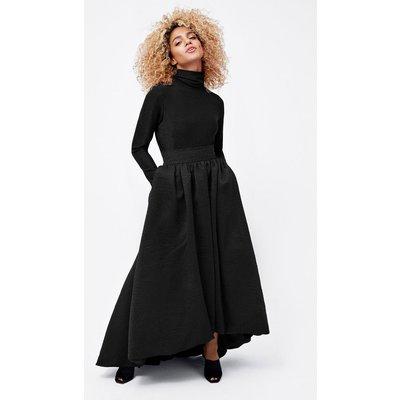 Puff Ball Skirt Black, Black