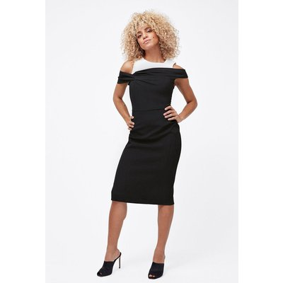 Structured Shift Dress Blackwhite, Blackwhite