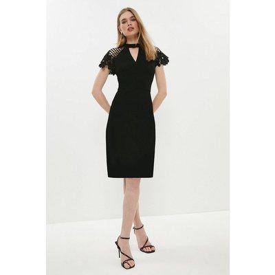 Coast Lace Cap Sleeve Shift Dress -, Black