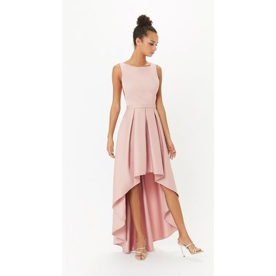 Coast Satin Dip Hem Midi Dress -, Pink