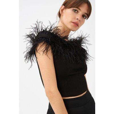 Feather Top Black, Black
