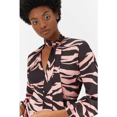 Plus Size Zebra Print Dress Multi, Multi