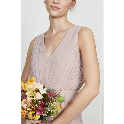 Coast Tulle Tiered Maxi Bridesmaid Dress -, Pink