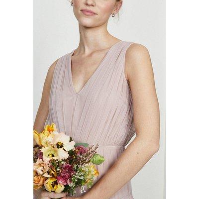 Coast Tulle Tiered Maxi Bridesmaid Dress, Pink