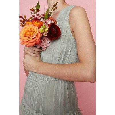Coast Tulle Tiered Maxi Bridesmaid Dress, Sage