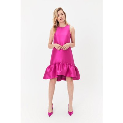 Peplum Hem Dress Pink, Pink