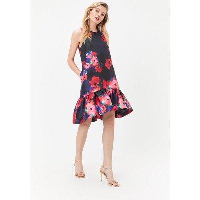 Coast Printed Peplum Hem Dress, Multi