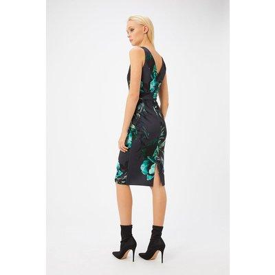 Floral Printed Scuba Shift Dress Multi, Multi