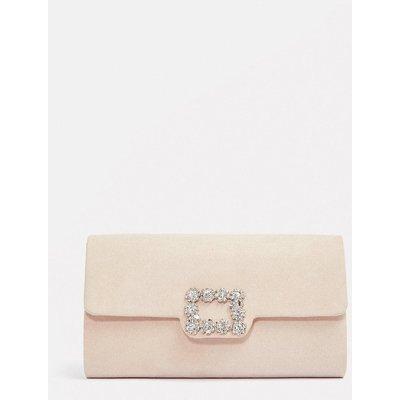 Embellished Buckle Clutch Bag Pink, Pink