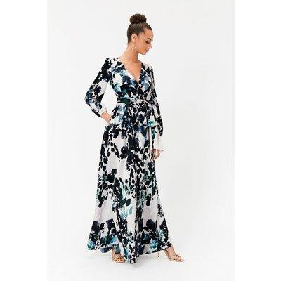 Coast Print Wrap Maxi Dress, Animal