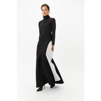 Mono Ruffle Maxi Skirt Blackwhite, Blackwhite